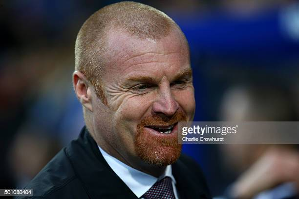 Burnley manager Sean Dyche during the Sky Bet Championship match between Queens Park Rangers and Burnley at Loftus Road on December 12 2015 in London...