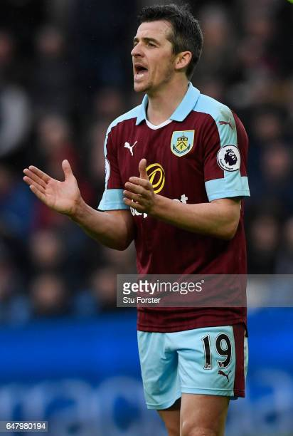 Burnley player Joey Barton reacts during the Premier League match between Swansea City and Burnley at Liberty Stadium on March 4 2017 in Swansea Wales