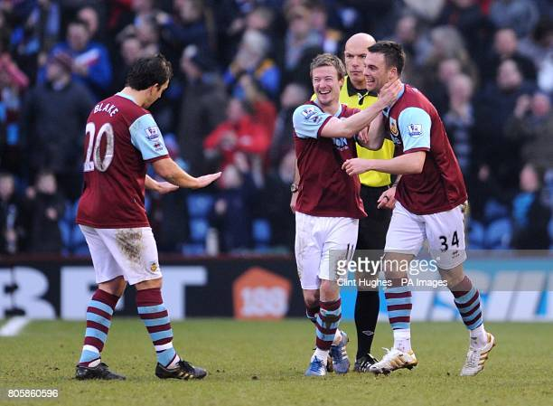 Burnley's Daniel Fox celebrates scoring his sides second goal
