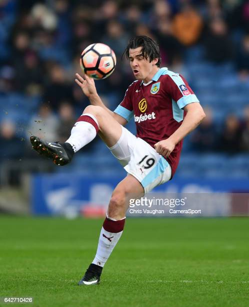 Burnley's Joey Barton during The Emirates FA Cup Fifth Round match between Burnley and Lincoln City at Turf Moor on February 18 2017 in Burnley...