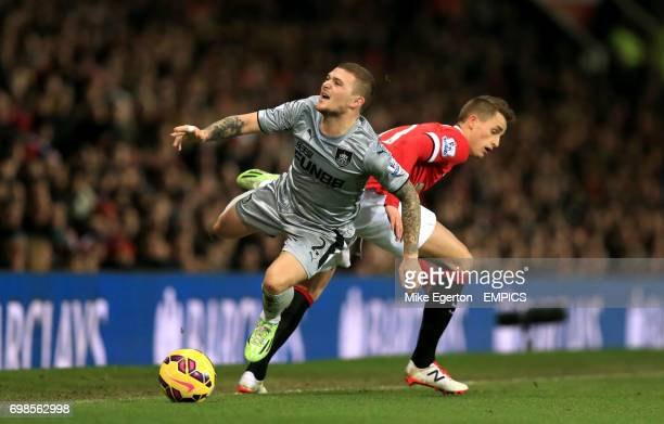 Burnley's Kieran Trippier and Manchester United's Adnan Januzaj in action
