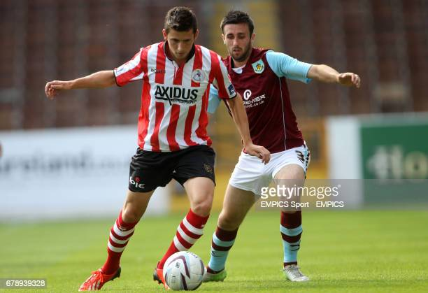 Burnley's Kieran Trippier and Sparta Rotterdam's Stef Peeters during the match at Turf Moor