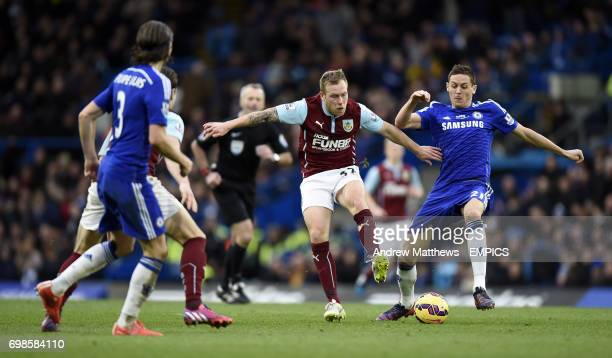 Burnley's Scott Arfield and Chelsea's Nemanja Matic battle for the ball