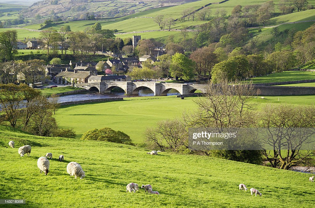 Burnsall, Wharfedale, Yorkshire Dales, England : Stock Photo