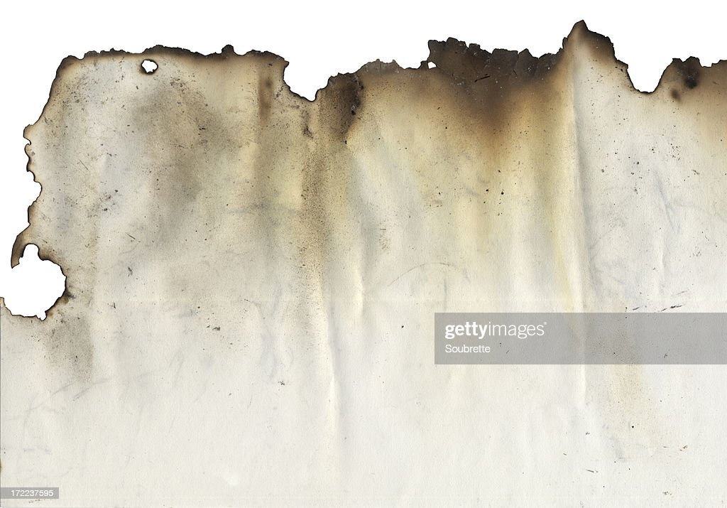 Burnt Edge : Stock Photo