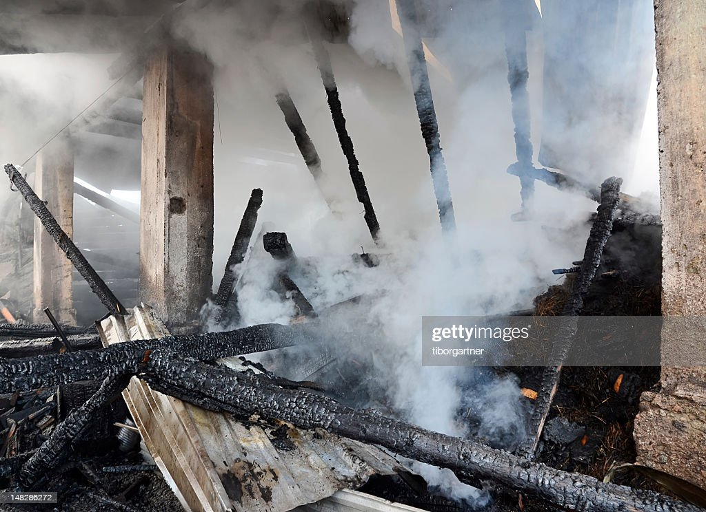 Burnt house : Stock Photo