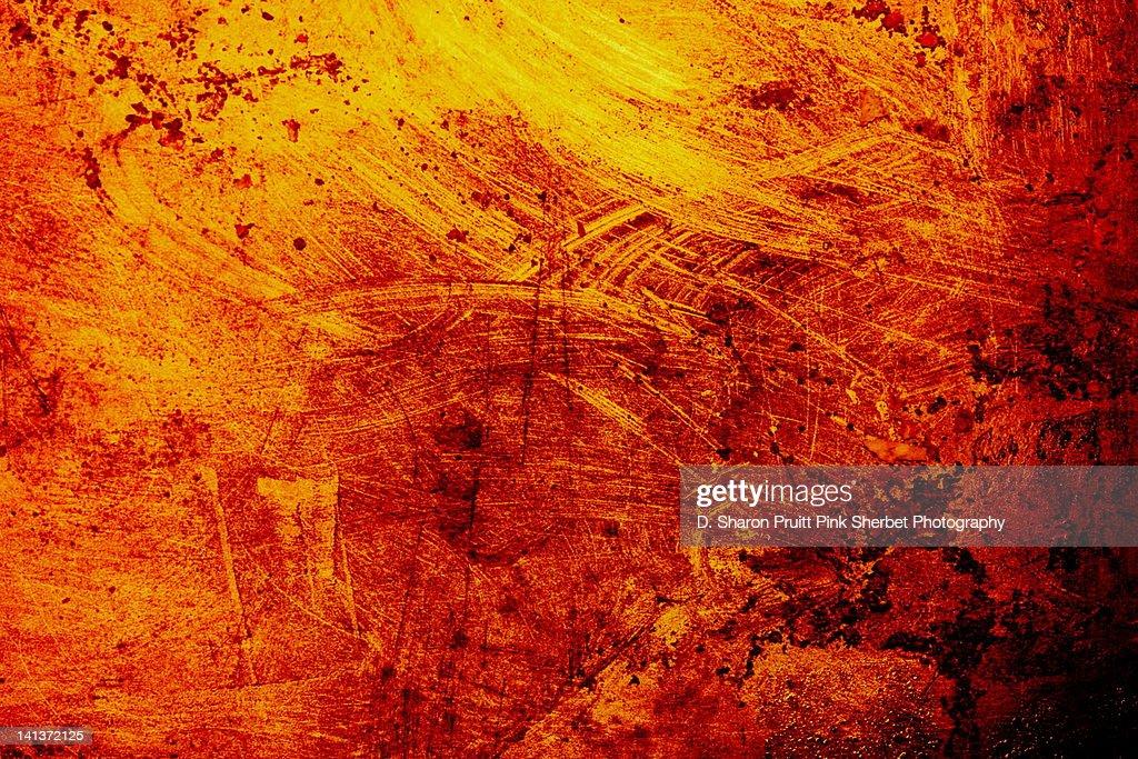 burnt orange grunge metal texture background stock photo