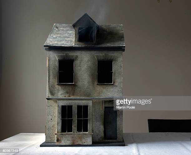burnt out dolls house