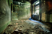 Burnt Room in Abandoned House, HDR