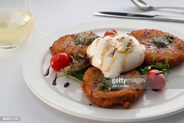 Burrata and fried green tomatoes