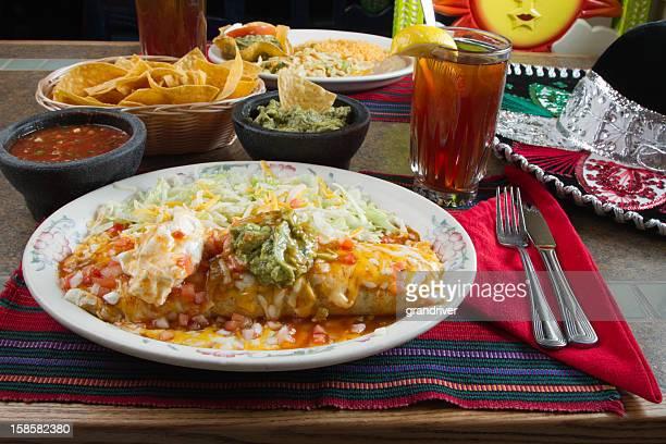 Burrito with Guacamole and Sour Cream