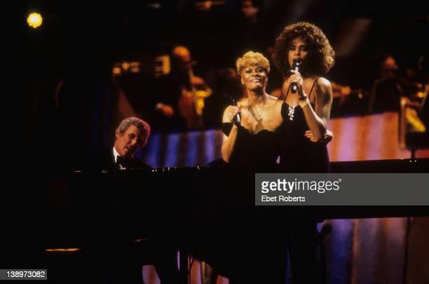 Burt Bacharach Dionne Warwick and Whitney Houston 1990