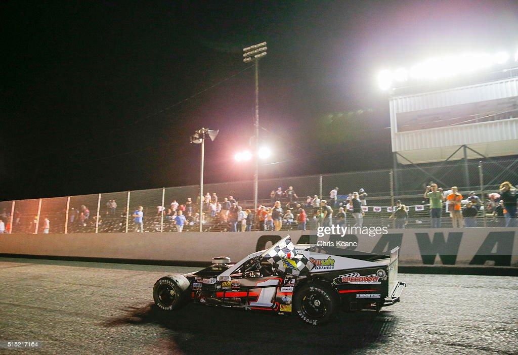 Burt Myers Driver Of The #1 Remington SCT/Speedway Auto/Citrusafe Ford  Celebrates