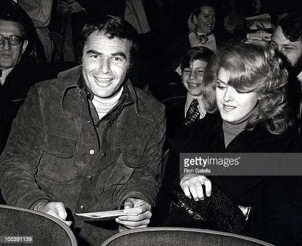 Burt Reynolds and Bernadette Peters during Performance of 'Molly' at Broadway Theater in New York City New York United States