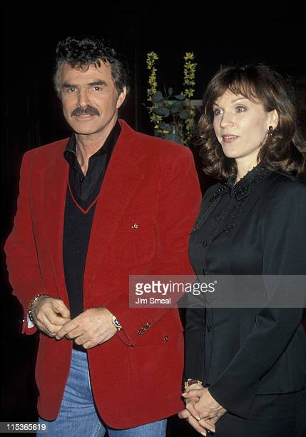 Burt Reynolds and Marilu Henner during NAPTE Convention January 27 1993 at Moscone Convention Center in San Francisco California United States