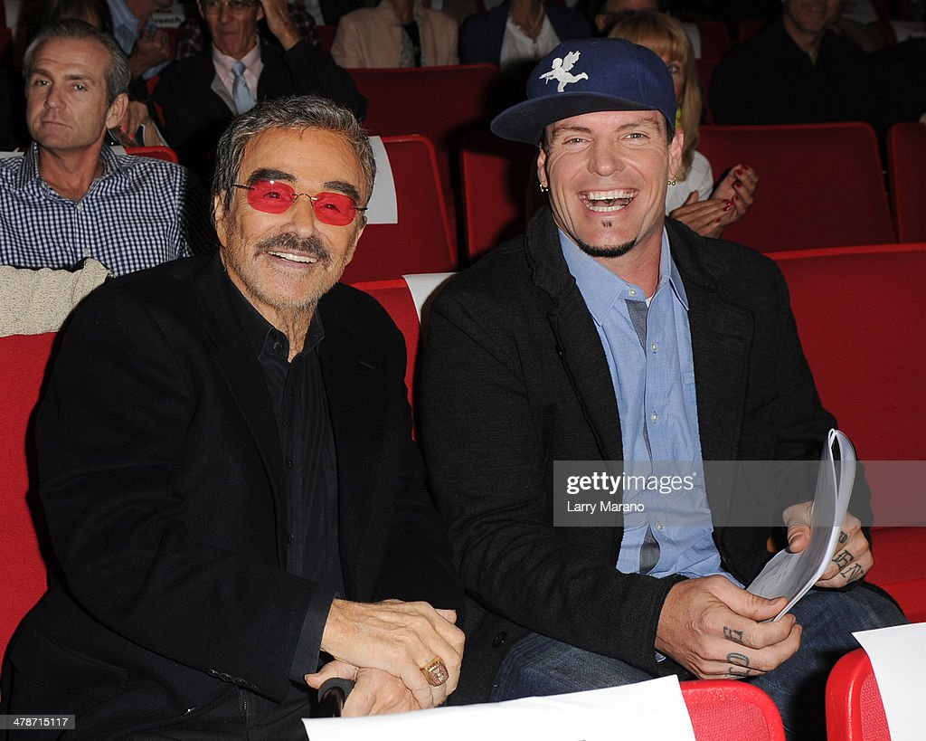 <a gi-track='captionPersonalityLinkClicked' href=/galleries/search?phrase=Burt+Reynolds&family=editorial&specificpeople=204674 ng-click='$event.stopPropagation()'>Burt Reynolds</a> and Rob Van Winkle attend the 2014 Student Showcase of Films at Lynn University on March 14, 2014 in Boca Raton, Florida.