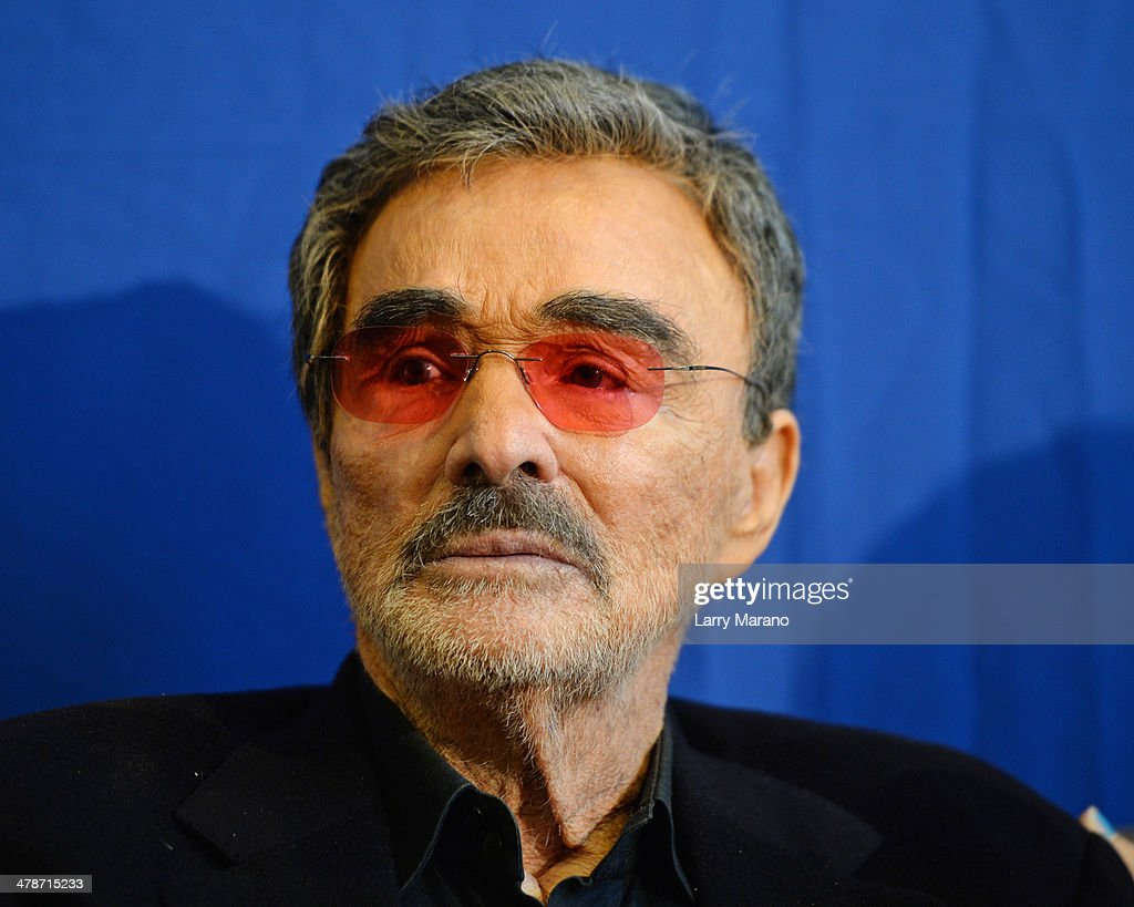 <a gi-track='captionPersonalityLinkClicked' href=/galleries/search?phrase=Burt+Reynolds&family=editorial&specificpeople=204674 ng-click='$event.stopPropagation()'>Burt Reynolds</a> attends the 2014 Student Showcase of Films at Lynn University on March 14, 2014 in Boca Raton, Florida.