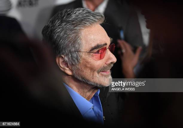 Burt Reynolds attends the 'Dog Years' premiere during 2017 Tribeca Film Festival at Cinepolis Chelsea on April 22 2017 in New York City / AFP PHOTO /...