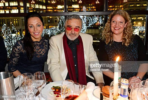 Burt Reynolds attends The Snow Queen Cigar Smoker of the Year Awards Dinner 2015 at Boisdale Canary Wharf on December 1 2015 in London England