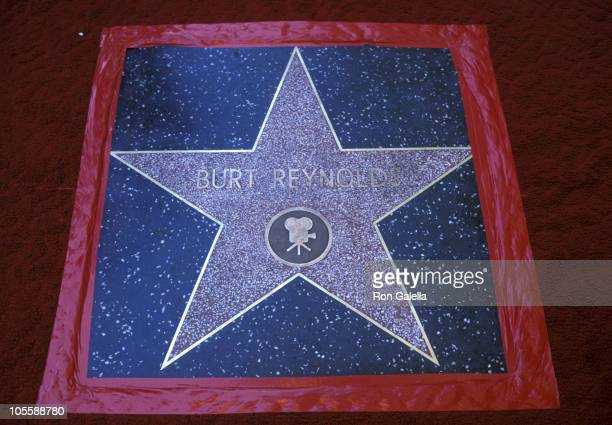 Burt Reynolds' Star on Hollywood Boulevard during Burt Reynolds' Star on Hollywood Boulevard March 5 1978 in Hollywood California United States