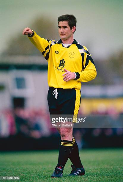 Burton Albion playermanager Nigel Clough makes a point during a FA Cup 1st Round match between Burton Albion and Rochdale on October 30 1999 in...