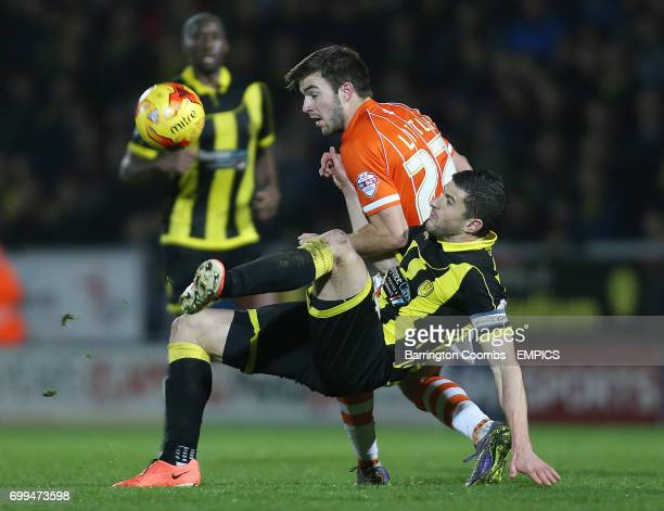 Burton Albion's John Mousinho and Blackpool's Andy Little