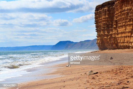 Burton Bradstock Beach Dorset : Stock Photo