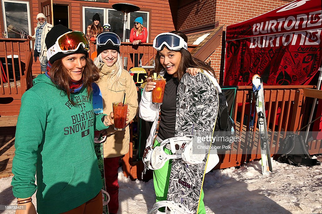 Burton Pro Rider Gabi Viteri, Lauren Offenberg and Farryn Weiner attend Burton Learn To Ride on January 19, 2013 in Park City, Utah.