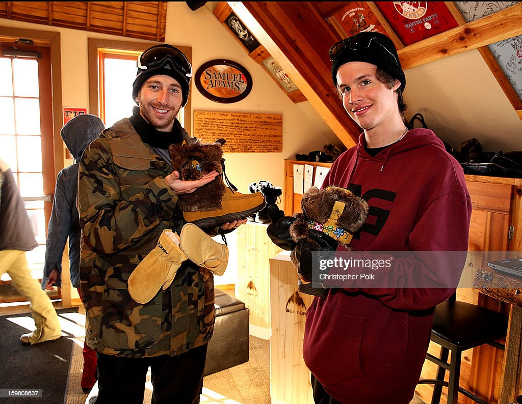 Burton Pro Riders Jack Mitrani and Zak Hale attend Burton Learn To Ride - Day 2 on January 20, 2013 in Park City, Utah.