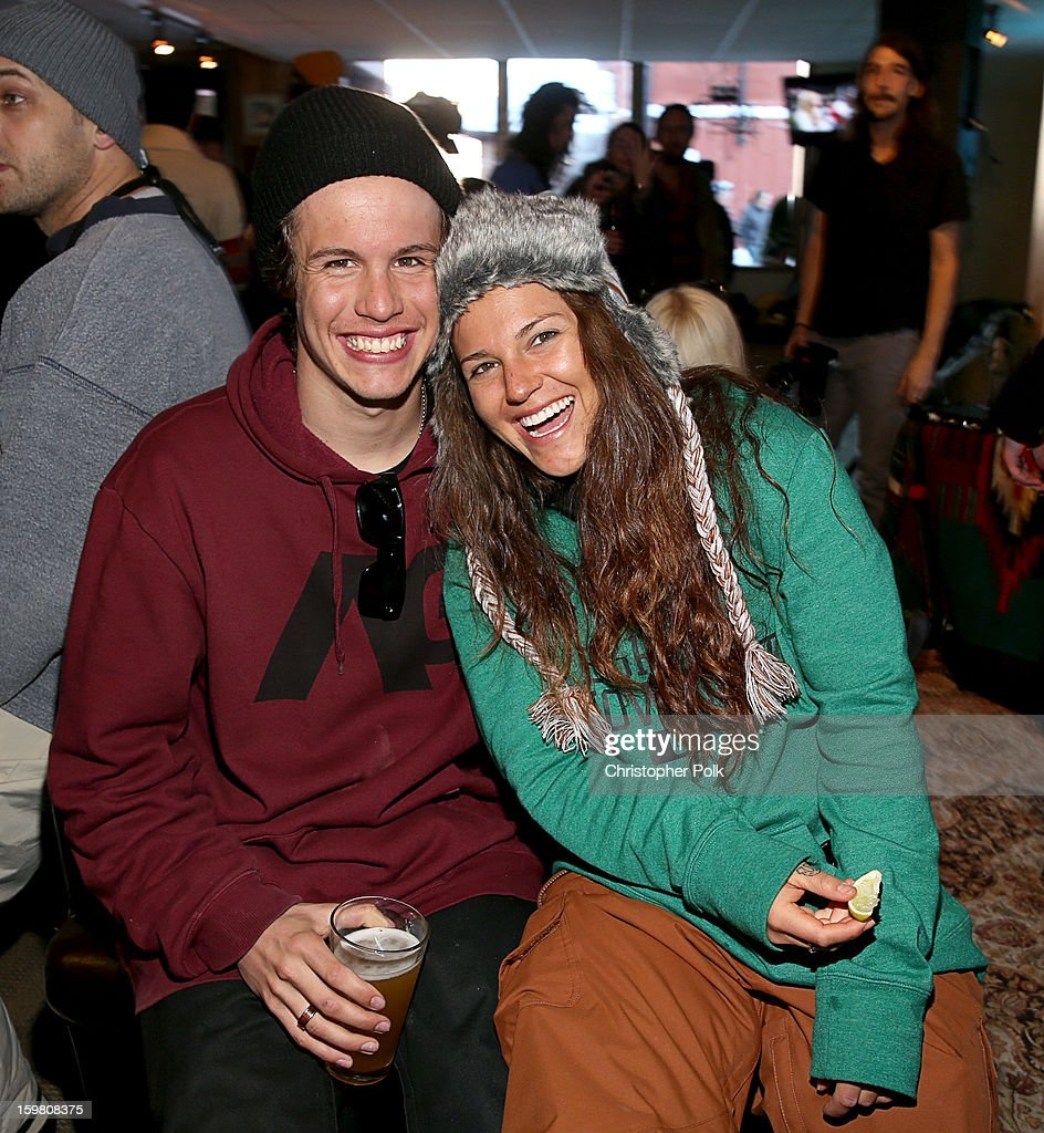 Burton Pro Riders Zak Hale and Gabi Viteri attend Burton Learn To Ride - Day 2 on January 20, 2013 in Park City, Utah.