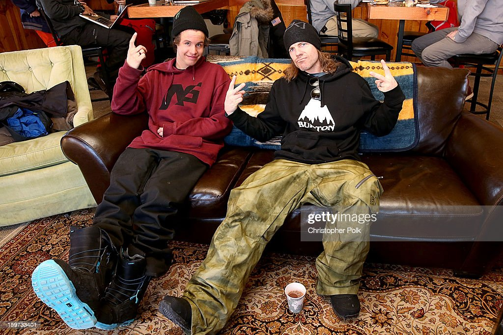 Burton Pro Riders Zak Hale and Jeremy Jones attend Burton Learn To Ride on January 19, 2013 in Park City, Utah.