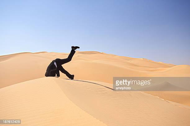 bury den Kopf in den sand stecken