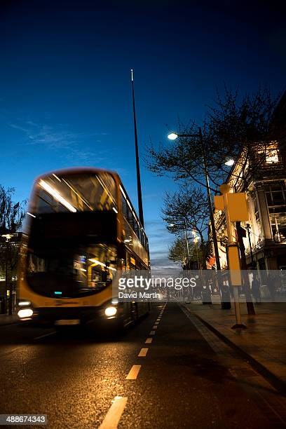 Bus at the Spire