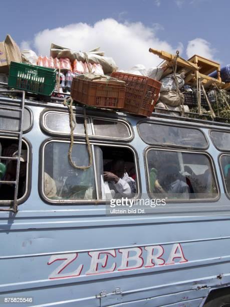 Bus carrying passengers to Narok Masai region Kenya