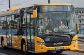 A bus crosses Kennedy Bridge in Bonn Germany 09 September 2014 Bonn that offers many touristic attractions was founded in the first century BC as a...