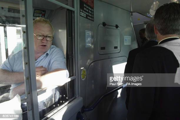 Bus Driver Eugene Brady takes no fares the No 91 in Dublin as unions protest at plans to break up the Republic's transport body Transport workers...