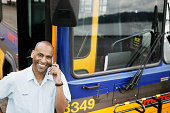 Bus driver using cell phone by bus