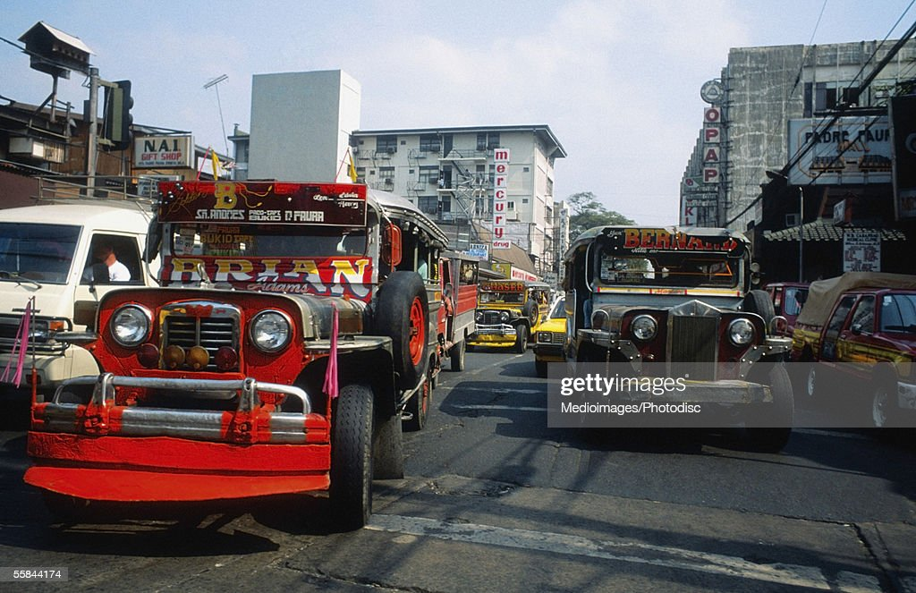 Bus on a crowded street, Manila, Philippines