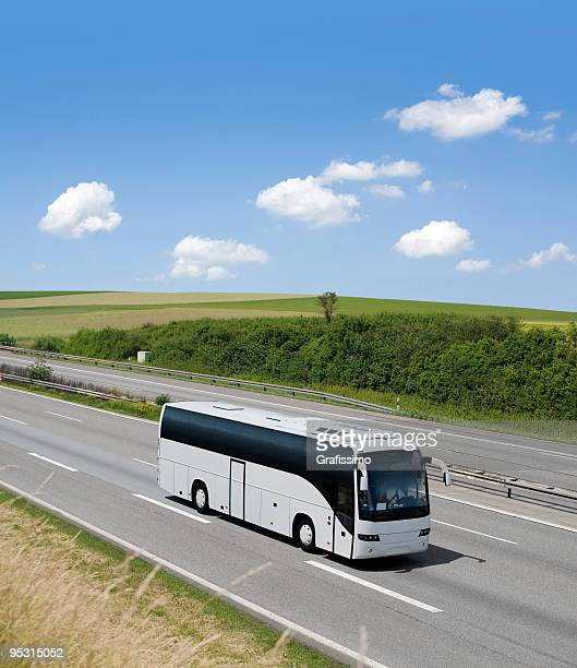Bus on driving on german highway