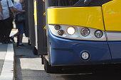 Bus in Belgrade, Serbia - public transportation.