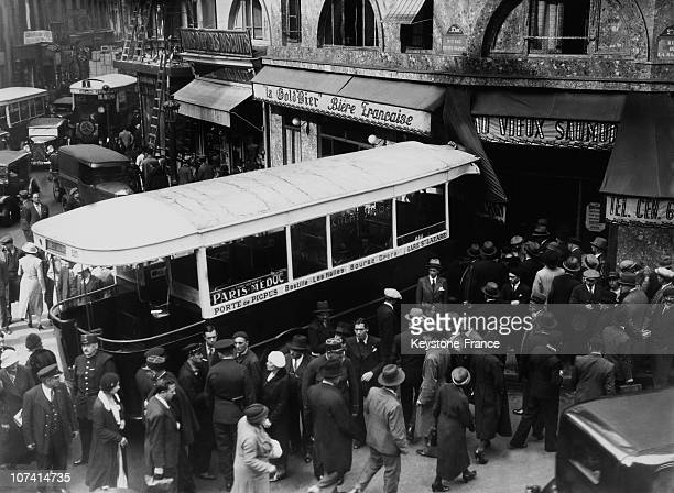 Bus Skid In The Petits Champs Street In Paris On October 7Th 1933