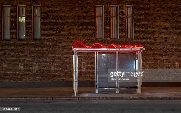 Bus Stop at night