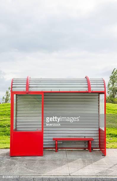 bus stop by a roadside