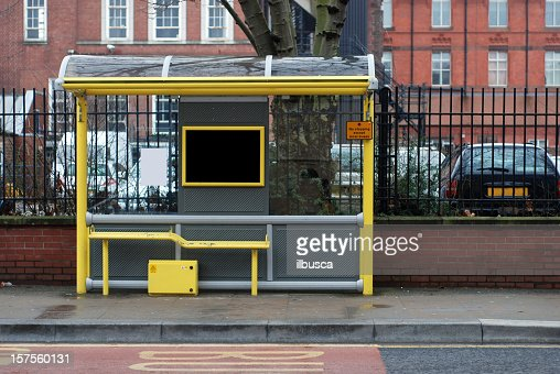 Bus stop in England