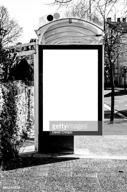 Bus stop (B&W)