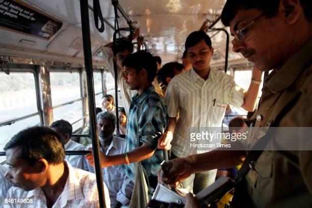Bus Ticket Conductor Bus Passengers Bus Commuters