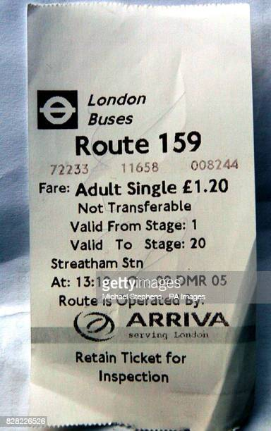 A bus ticket for 159 Routemaster for its last trip Friday 9 December 2005 The last Routemaster to operate as part of a normal scheduled service ran...