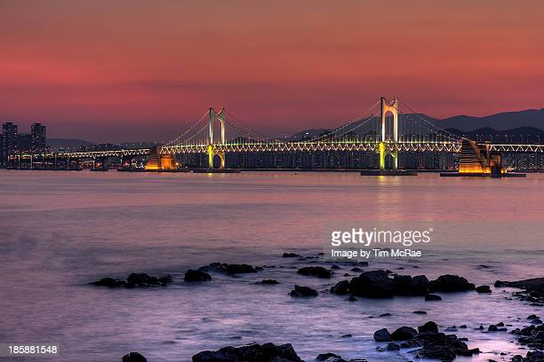 Busan Bridge at dusk