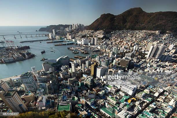 Busan port seen from Busan Tower