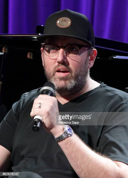 busbee speaks onstage at Chart Toppers Songwriters/Producers InTheRound Featuring Busbee Dave Bassett Warren 'Oak' Felder And Teddy Geiger at The...